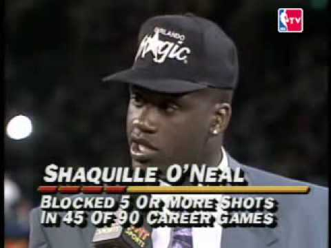 Shaquille O'Neal 1st pick 1992 NBA Draft