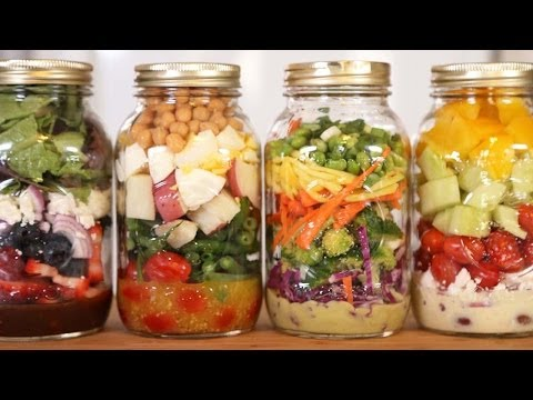 Salad - Click here to SUBSCRIBE: http://bit.ly/1dn24vP Learn how to make 4 delicious salad dressing recipes. Salad Dressing Recipes: http://bit.ly/1jiQT9n Facebook: ...