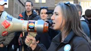 VIDEO: York U and U of T teaching assistants take their strike to Queen's Park