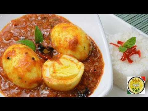Simple Egg Curry with Pressure Cooked Onion Tomato Gravy – By Vahchef @ vahrehvah.com