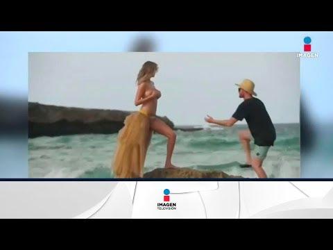 ¡Al agua la modelo Kate Upton! | Noticias con Yuriria Sierra