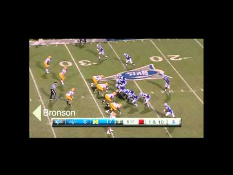 Malcolm Bronson vs MTSU 2012 video.