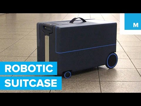 透過藍芽連線與手機同步, 行李箱就會乖乖跟在你身後!