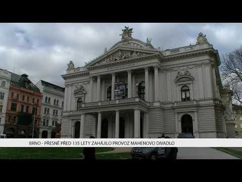 TV Brno 1: 14.11.2017 Přesně před 135 lety zahájilo provoz Mahenovo divadlo