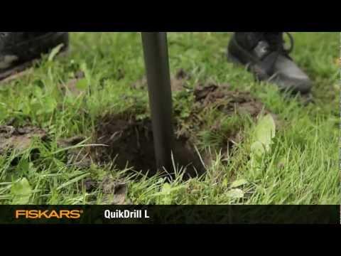 busilica za zemlju - Fiskars QuikDrill ™ bušač rupa za zemlju omogućava veoma lako i kvalitetno bušenje rupa u bašti Dizajn ovog alata omogućava prodiranje burgije u sve vrste ze...
