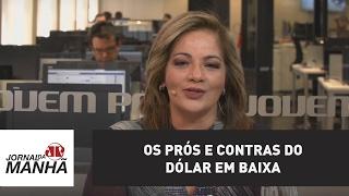 Os prós e contras do dólar em baixa  Denise Campos de Toledo