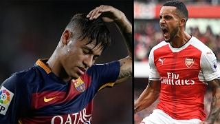 Walcott hit's 100 goals for his club, Neymar to face jail time? Will Otamendi move to Real madrid?, neymar, neymar Barcelona,  Barcelona, chung ket cup c1, Barcelona juventus
