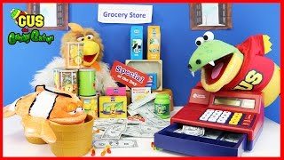 Pretend Play Food Toys Grocery Store Shopping with Kids Cash Register! Family Fun Video for Children
