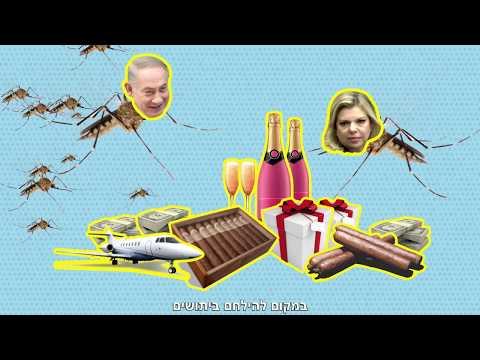 אופס! צפו בסרטון: נתניהו והממשלה בסרטון היתושים