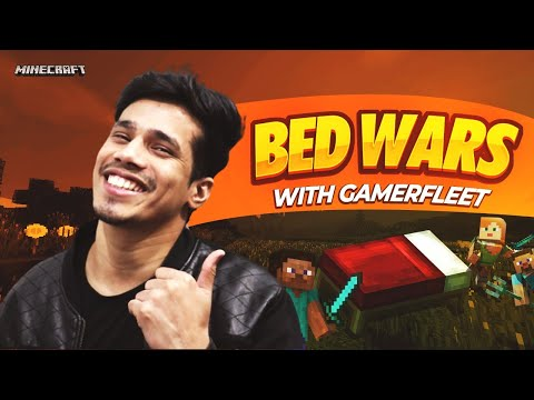 Minecraft Bedwars With GamerFleet | 2 Wins