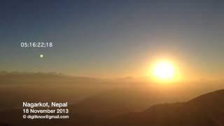 Nagarkot Nepal  city photos : Nagarkot, Nepal: Most Spectacular Sunrise | TIMELAPSE [24x] [1080p] [HD]