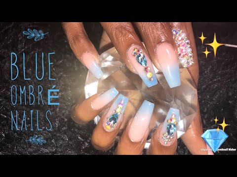 Acrylic Nails Fullset  Glow In The Dark Ombre