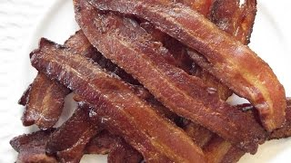 Bacon that has been baked in the oven makes less of a mess than frying bacon on the stove. It cooks more thoroughly and evenly...