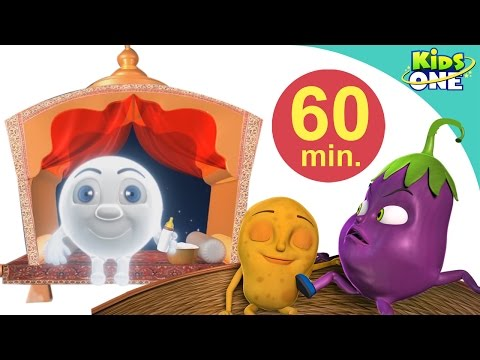 Chand | Aloo Kachaloo Beta | Hindi Children Rhymes | 60 Min Compilation