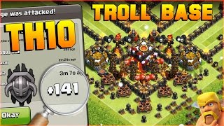 Clash of Clans TH10 Base / TH10 Troll Base [New Update Base]. This Town Hall 10 Base is done after Clash of Clans New Update [CoC New Update] + Funny ...