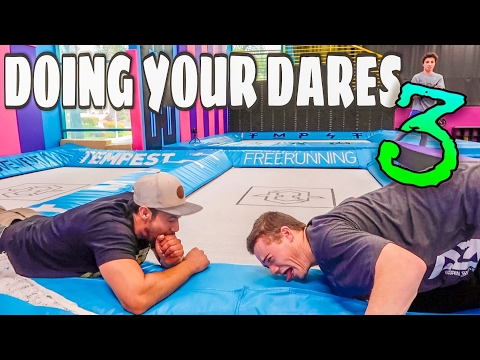 DOING YOUR DARES // SUPER TRAMPOLINE PARK EDITION!