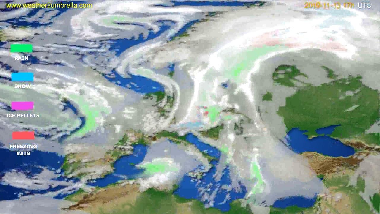 Precipitation forecast Europe // modelrun: 12h UTC 2019-11-12