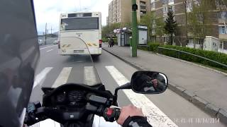 Motorcyclist Helps Man Catch The Bus
