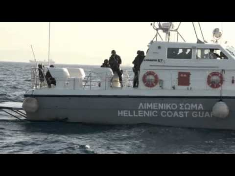 Coast Guard SWAT - The Audacity of Hope was stopped at sea by the Greek Coast Guard 20 minutes after leaving the port. Our captain refused to turn back irregardless of the plea...