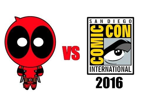 Deadpool haciendo de las suyas por la Comic Con 2016 de San Diego