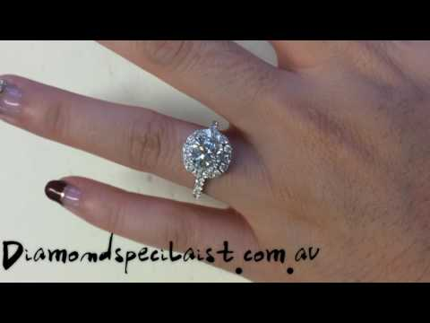 1ct diamond with halo setting