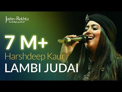 Lambi Judai | Harshdeep Kaur Live at Jashn-e-Rekhta
