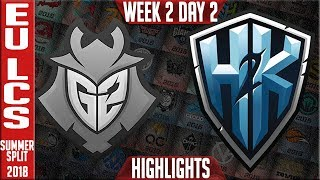 Video G2 vs H2K Highlights | EU LCS Summer 2018 Week 2 Day 2 | G2 Esports vs H2K Highlights MP3, 3GP, MP4, WEBM, AVI, FLV Juni 2018