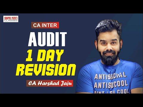 CA INTER AUDIT REVISION BY CA HARSHAD JAJU ( READ DESCRIPTION)