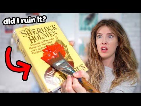 I Painted..on a BOOK?! uh.. видео