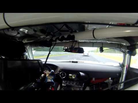 Hans Stuch VLN Crash Audi R8 GT3 Onboard Mercedes GT3 SLS with Stuart Leonard (видео)