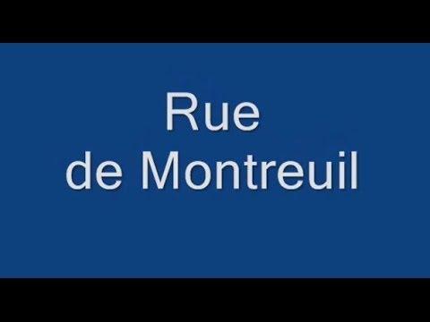 Rue de Montreuil Paris Arrondissement 11e
