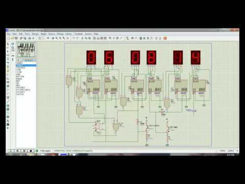 12/24 hour Digital clock using 7490 decade counter and BCD 7segment (file)