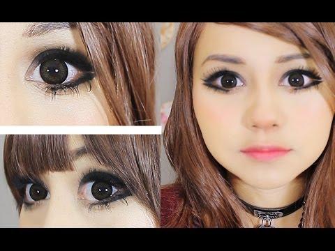 maquillaje ojitos grandes y rasgados con mucha pestaña ♥ miku