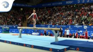 UEG Official – 31st European Championships in Women's Artistic Gymnastics, Bern (SUI), June 1st-5th, 2016. Gaelle MYS (BEL). Qualifications Beam : 14.133 (Di...