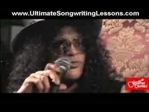how to write a song - Hear how Slash approaches songwriting.