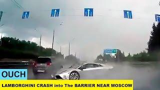 Poszedł jak dzik w sosnę! Konkretny wypadek Lamborghini Murcielago na autostradzie!