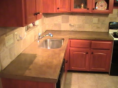 How to Build a Concrete Countertop - DIY
