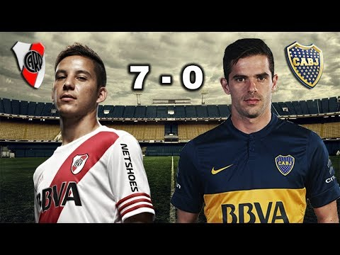 RIVER PLATE 7 - 0 BOCA JUNIORS - SUPERCLÁSICO - Parodia 2017 / Boca Vs River