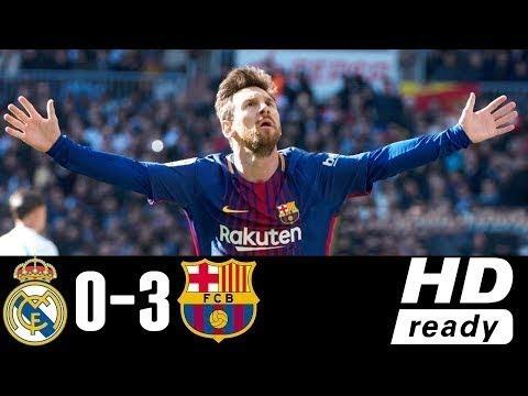 Real Madrid vs Barcelona (0-3) - All Goals & Highlights 23/12/2017 HD