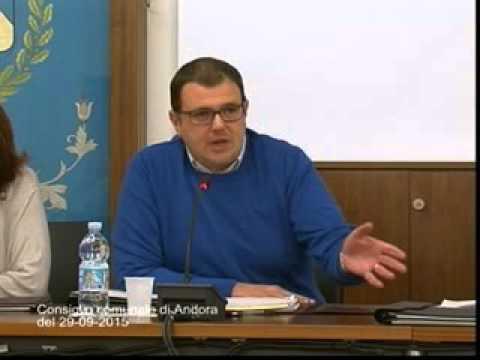 Consiglio comunale di Andora 29 settembre 2015