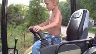 5 Year Old Operating Cat 303 Excavator And Bobcat