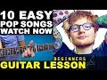 Learn 10 Easy Pop Songs (2016) Beginners Guitar Lesson