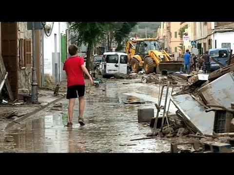 Νεκροί και βιβλική καταστροφή στην Μαγιόρκα από τις πλημμύρες…