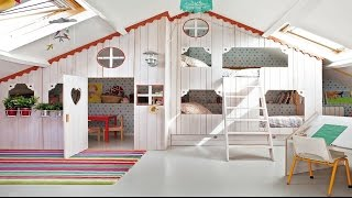 Adorable Indoor Playhouse for Children - Room Ideas