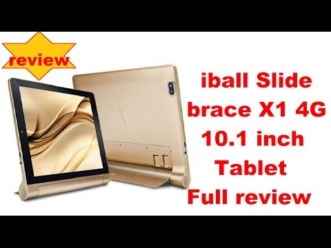 iball brace X1 4G 10.1 inch tablet full review hands on unboxing 2017