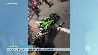 Casal fica gravemente ferido em acidente na Zona Norte de Marília