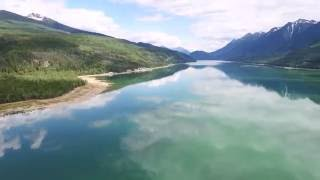 Aerial view of Kinbasket Lake, British Columbia, Canada.