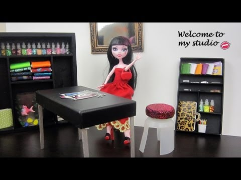 Manualidades para muñecas: Haz muebles para el estudio/salón de tus muñecas Monster High