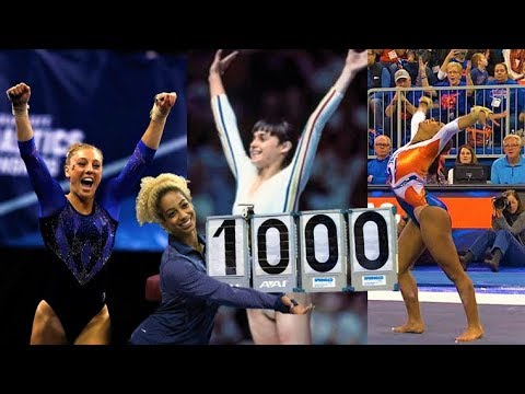 Four perfect 10's in gymnastics
