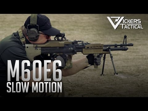US Ordnance M60E6 in Ultra Slow Motion